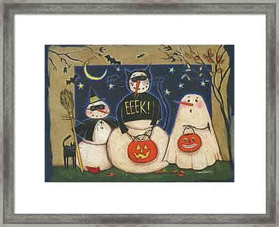 Seasonal Snowman X Framed Print