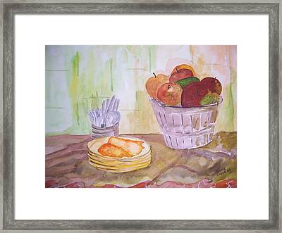 Season's Finest Framed Print by Jacqueline Coote