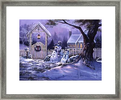 Season's Greeters Framed Print