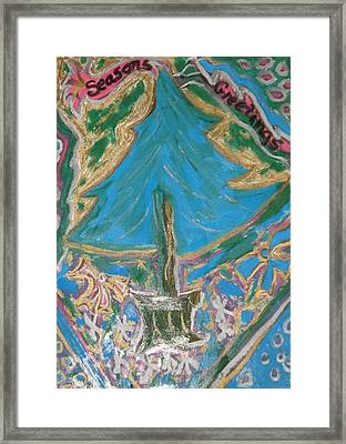 Seasons Greetings 2 Framed Print by Lois Picasso