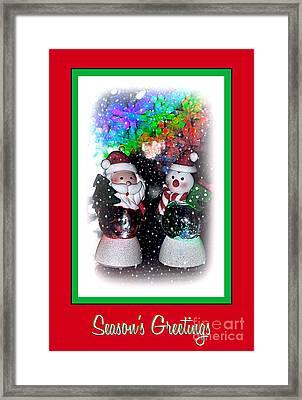 Season's Greetings By Kaye Menner Framed Print by Kaye Menner