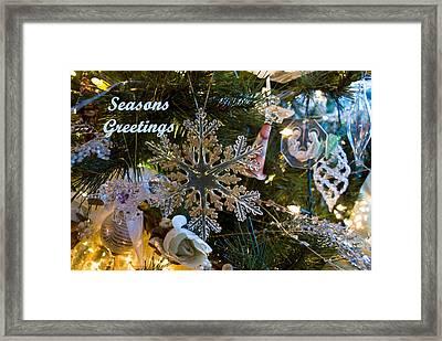 Seasons Greetings Card 2 Framed Print by Joanne Smoley
