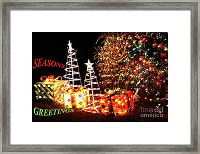Framed Print featuring the photograph Seasons Greetings Card by Gary Brandes