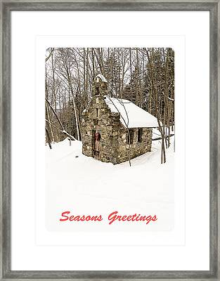 Seasons Greetings Christmas Card Framed Print