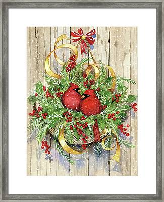Seasons Greetings Framed Print by Kathleen Parr Mckenna
