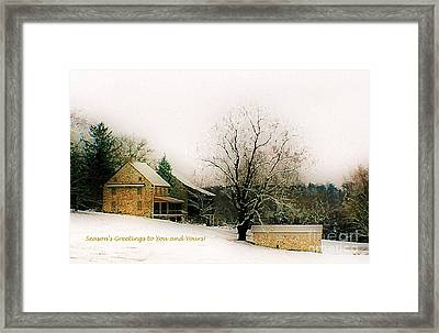 Framed Print featuring the photograph Season's Greetings To You And Yours by Polly Peacock