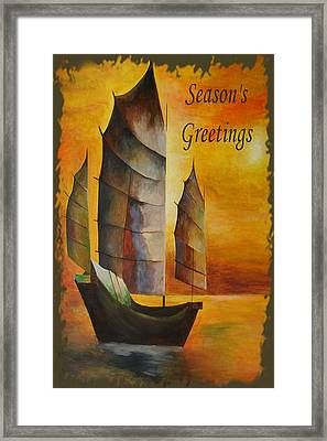 Season's Greetings Framed Print by Tracey Harrington-Simpson