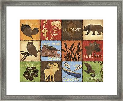 Seasons Lodge Framed Print by Debbie DeWitt