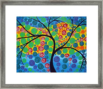 Seasons Of Joy Framed Print by Cathy Jacobs