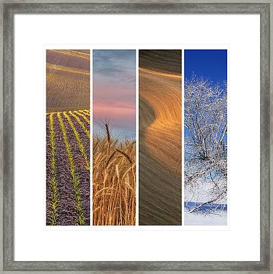 Seasons Of The Palouse Framed Print by Latah Trail Foundation