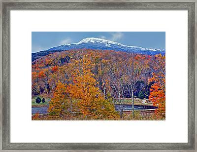 Seasons' Shift - Mount Washington - White Mountains Framed Print by Nikolyn McDonald