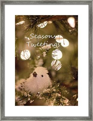Seasons Tweetings Framed Print
