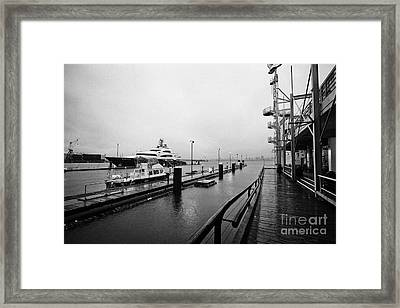seaspan marine tugboat dock city of north Vancouver BC Canada Framed Print by Joe Fox