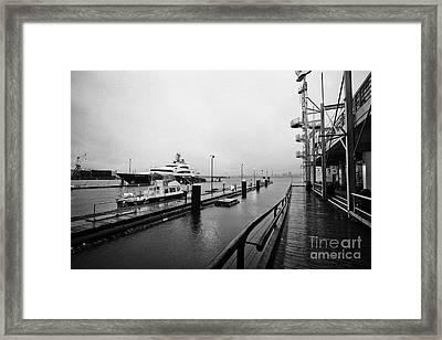 seaspan marine tugboat dock city of north Vancouver BC Canada Framed Print by Joe Fox