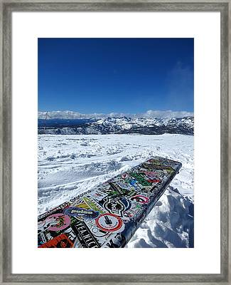 Seat At The Top Of The World Framed Print