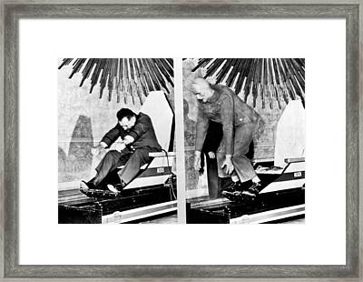 Seat Belts Work On Test Sled Framed Print