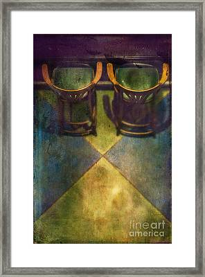 Seat For Two Framed Print by Danilo Piccioni