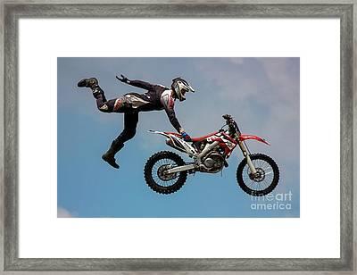 Seat Grab Framed Print