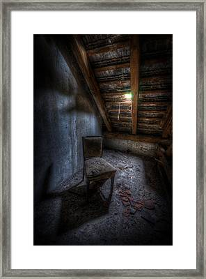 Seat In Darkenss Framed Print
