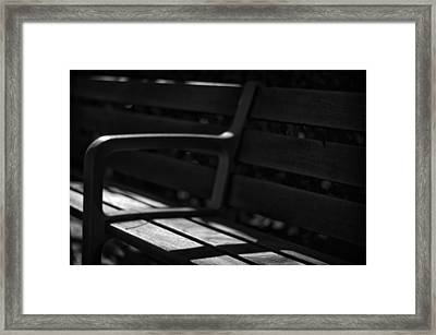 Seat Of Memories Framed Print