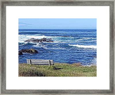 Seat With A View Framed Print by Kathy Churchman