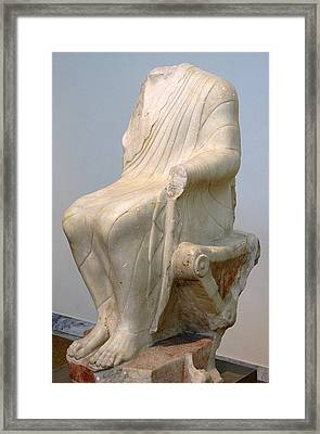 Seated Dionysos Framed Print by Andonis Katanos