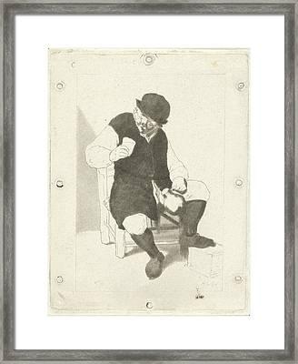 Seated Farmer With Pitcher, Cornelis Ploos Van Amstel Framed Print by Artokoloro