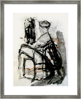 Seated Figure Framed Print by James Gallagher