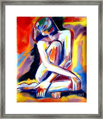 Seated Lady Framed Print by Helena Wierzbicki