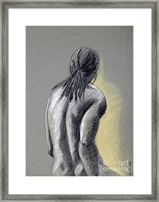 Seated Male Framed Print