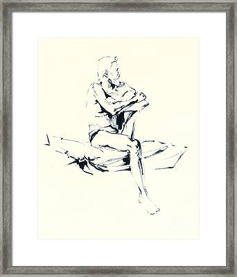 seated Man Framed Print