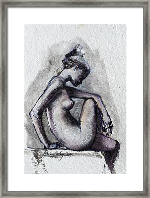 Seated Nude Framed Print