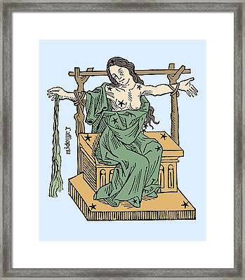 Seated Queen Of Cassiopeia Constellation Framed Print