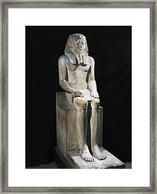 Seated Statue Of Sesostris I. 1971 Framed Print