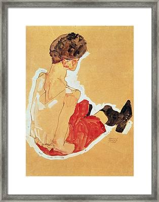 Seated Woman, 1911  Framed Print by Egon Schiele