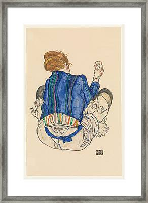 Seated Woman. Back View Framed Print