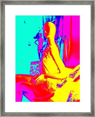 Seated Woman Framed Print by Ed Weidman
