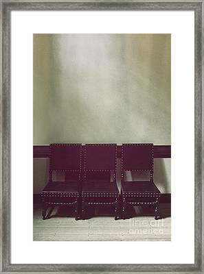 Seating For Three Framed Print by Margie Hurwich