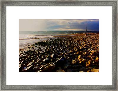 Framed Print featuring the digital art Seaton by Ron Harpham