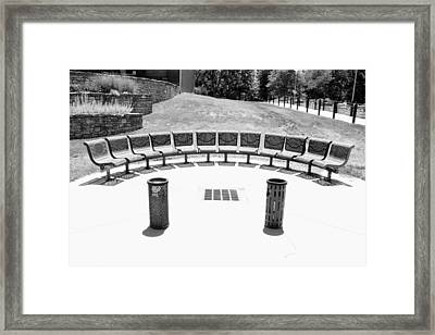 Seats Still Available Bw Framed Print by Elizabeth Sullivan