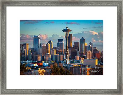 Seattle Afternoon Framed Print by Inge Johnsson