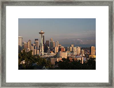 Seattle Afternoon Framed Print by Jack Nevitt