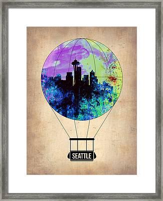 Seattle Air Balloon Framed Print