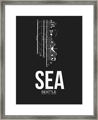 Seattle Airport Poster 1 Framed Print by Naxart Studio