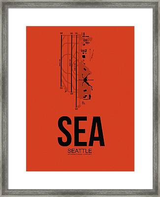 Seattle Airport Poster 2 Framed Print by Naxart Studio