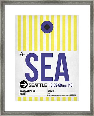 Seattle Airport Poster 3 Framed Print by Naxart Studio
