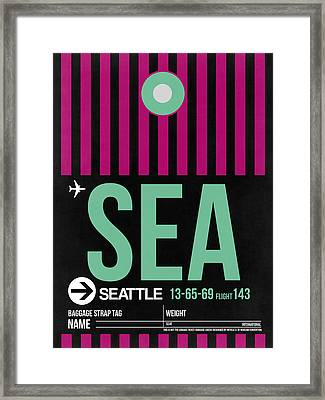 Seattle Airport Poster 4 Framed Print by Naxart Studio