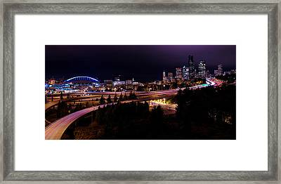 Seattle Bend Framed Print by Chad Dutson