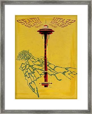 Seattle Calling Framed Print by Sandstone Inc