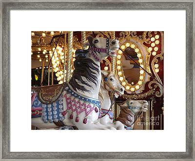 Framed Print featuring the photograph Seattle Carousel by Laura  Wong-Rose